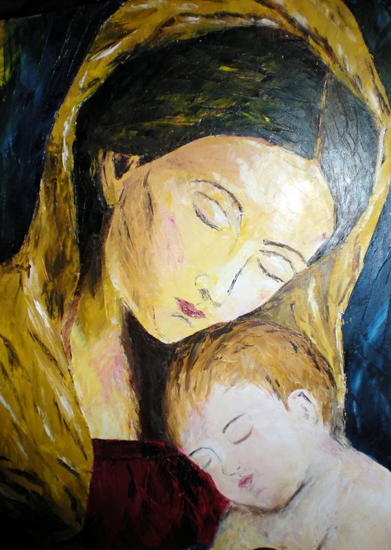 In the arms of Mary ($2400 original / $600 limited edition copy )