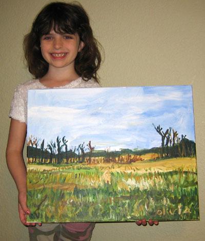 Olivia Montefiore Age 7